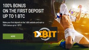 1xbit casino signup bonus up to 1 BTC