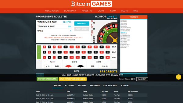bitcoin games roulette page