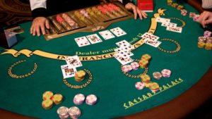 blackjack table at vegas