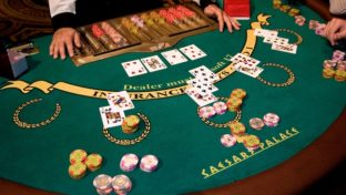 blackjack table at vegas