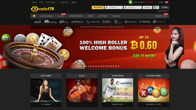 coin178 bitcoin casino site