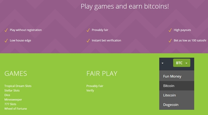 cryptogames about us part and available crypto currencies
