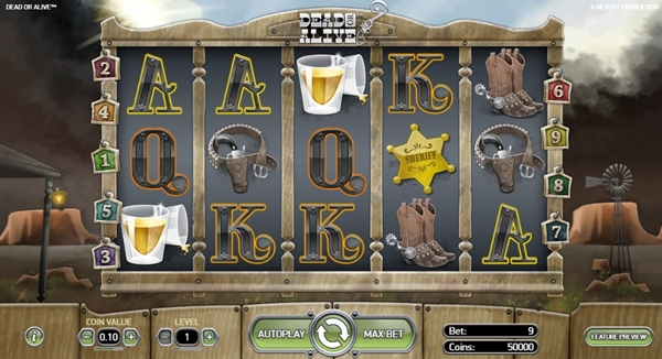 dead or alive slot game wheels