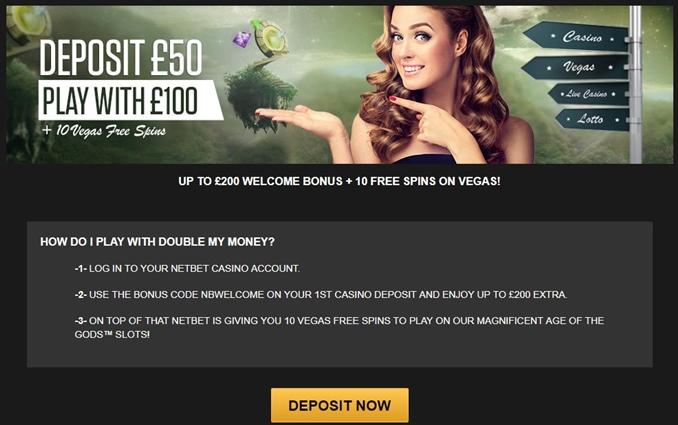 netbet casino bonus offer