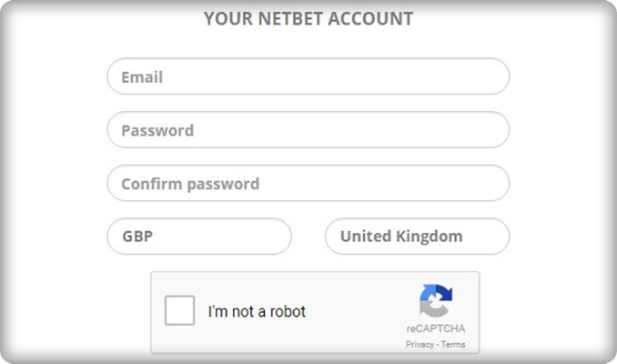 netbet casino signup form