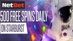 netbet casino starbust slot freespin offer