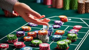 roulette player holding chips