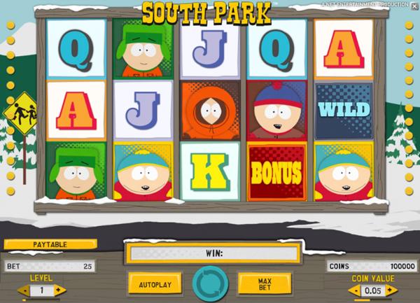South Park slot game wheels