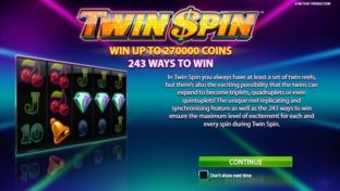 Twin Spin slot intro