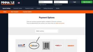 pinnacle payment method bitcoin