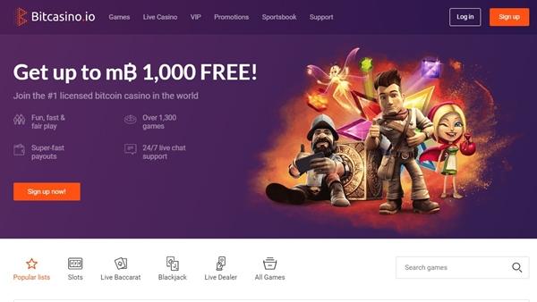 bitcasino landing page