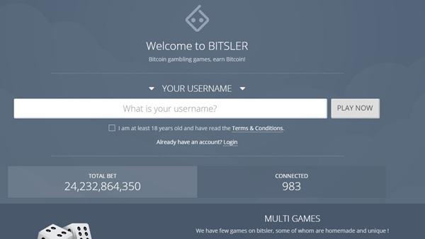 bitsler landing page