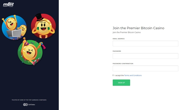 mbitcasino signup form