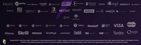Bitcoincasino.io payment options